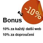 10% bonus na tvorbu www stránek